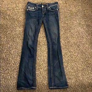 ROCK REVIVAL Ava Slim Boot Cut Jeans Sz 26 x 33
